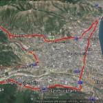 """Percorso bici turistico (SV): """"Piana di Albenga""""."""